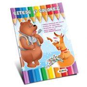 Citesc si colorez. Ursul pacalit de vulpe