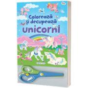 Coloreaza si decupeaza Unicorni (blue)
