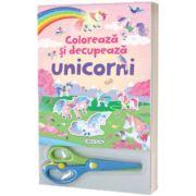 Coloreaza si decupeaza Unicorni (roz)