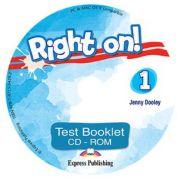 Curs engleza Right on! 1 Test Booklet CD-ROM, Jenny Dooley, Express Publishing