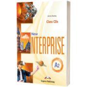 Curs limba engleza New Enterprise A2 Audio Set 3 CD, Jenny Dooley, Express Publishing