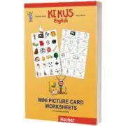 Kikus Englisch Mini Picture Card Worksheets for vocabulary building, Edgardis Garlin, HUEBER