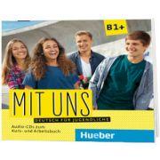 Mit uns B1+ 1 Audio-CD zum Kursbuch, 1 Audio-CD zum Arbeitsbuch, Anna Breitsameter, HUEBER