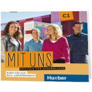 Mit uns C1. 2 Audio CDs zu Kurs und Arbeitsbuch, Anna Breitsameter, HUEBER