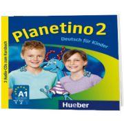 Planetino 2. 3 Audio CDs zum Kursbuch Deutsch fur Kinder, Gabriele Kopp, HUEBER
