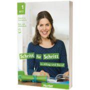 Schritt fur Schritt in Alltag und Beruf 1. Kursbuch und Arbeitsbuch, Daniela Niebisch, HUEBER