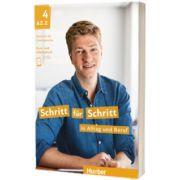 Schritt fur Schritt in Alltag und Beruf 4. Kursbuch und Arbeitsbuch, Daniela Niebisch, HUEBER