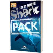 Literatura CLIL The Great White Shark Pachetul profesorului (reader cu cross-platform APP. + TB pe CD-ROM)