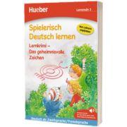 Spielerisch Deutsch lernen. Lernkrimi - Das geheimnisvolle Zeichen. Buch mit MP3 Download