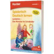 Spielerisch Deutsch lernen. Lernkrimi - Das Monster im Schulkeller. Buch mit MP3 Download