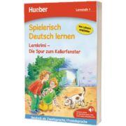 Spielerisch Deutsch lernen. Lernkrimi - Die Spur zum Kellerfenster. Buch mit MP3 Download