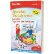 Spielerisch Deutsch lernen. Lernkrimi - Jagd nach dem Reifendieb. Buch mit MP3 Download