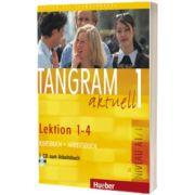 Tangram aktuell 1. Lektion 1-4 Kursbuch und Arbeitsbuch mit Audio-CD zum Arbeitsbuch, Rosa Maria Dallapiazza, HUEBER