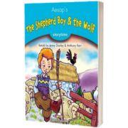 Literatura adaptata pentru copii. The shepherd boy and the wolf cu Cross-platform App.