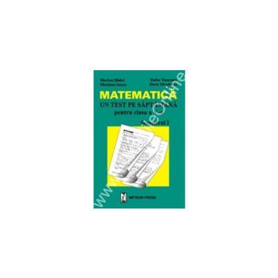 Matematică - un test pe săptămână - clasa a V-a, semestrul I