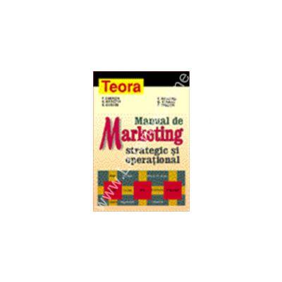 Manual de marketing strategic si operational
