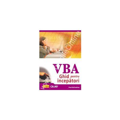 VBA - Ghid pentru incepatori