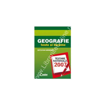 GEOGRAFIE teste şi bareme