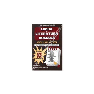 Limba si literatura romana. Clasa a XI-a
