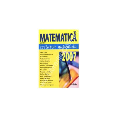 Matematica pentru testarea nationala 2007