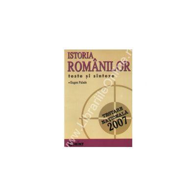 Istoria romanilor. Testare nationala 2007 - Palade