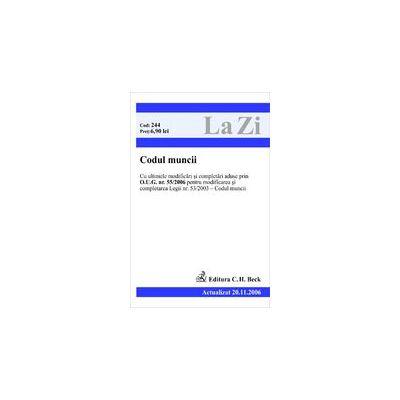 Codul muncii (actualizat la 20.11.2006)