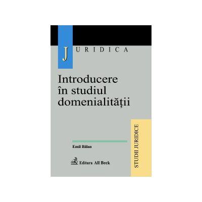 Introducere in studiul domenialitatii