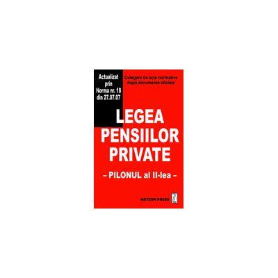 Legea pensiilor private