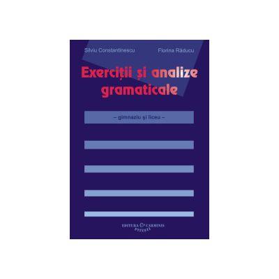 Exercitii si analize gramaticale – gimnaziu si liceu