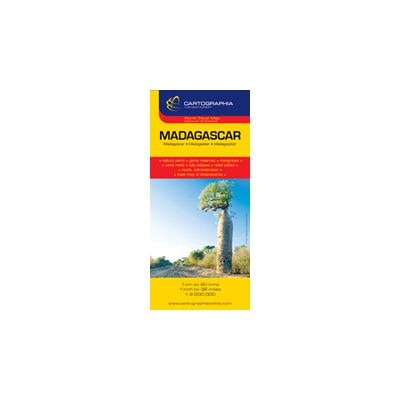 Hartă rutieră Madagascar