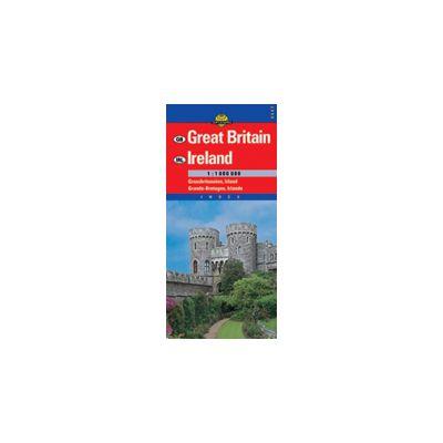 Hartă rutieră Marea Britanie, Irlanda