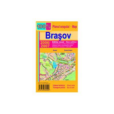 Harta pliata Brasov