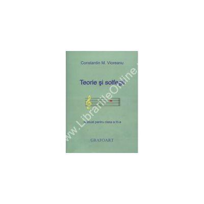 Teorie si solfegii manual pentru clasa a III-a