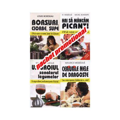 PACHET PROMOTIONAL 4 CARTI- HAI SA MANCAM PICANT!-USTUROIUL, SENATORUL LEGUMELOR-BORSURI,CIOBE, SUPE-CEAIURILE MELE DE DRAGOSTE