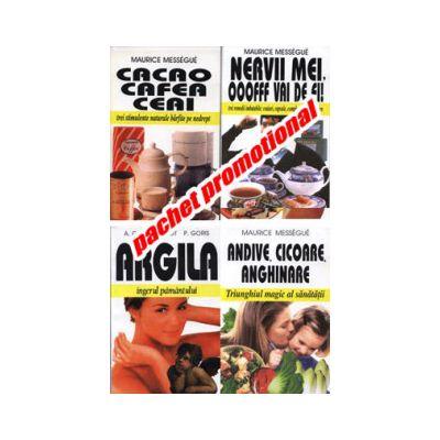 PACHET PROMOTIONAL 4 CARTI - ARGILA-CACCAO, CAFEA, CEAI-ANDIVE, CICOARE, ANGHINARE- NERVII MEI, OOOFFF VAI DE EI!