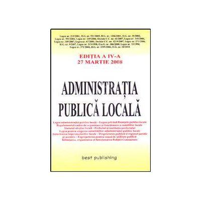 Administratia publica locala. Editia a V-a