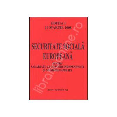 Securitate sociala europeana. Editia I