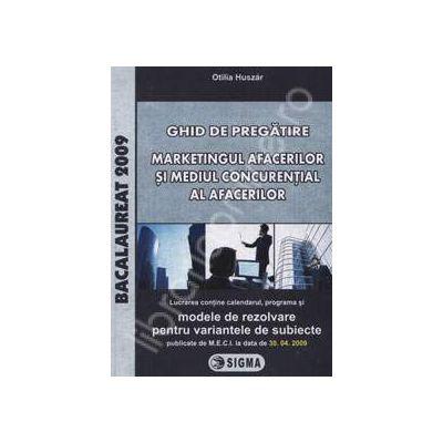 Bacalaureat la Marketingul Afacerilor si Mediul Concurential al Afacerilor  2009