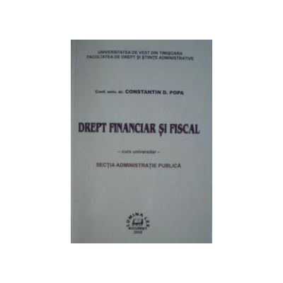 Drept financiar si fiscal- curs universitar