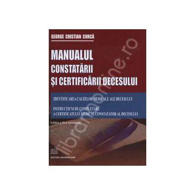 Manualul constatarii si certificarii decesului