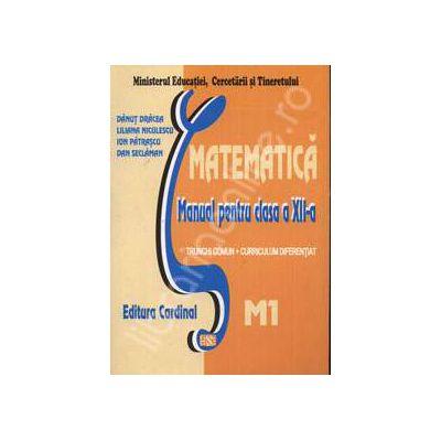 Matematica. Manual pentru clasa a XII-a. Trunchi comun + curriculum diferentiat. M1