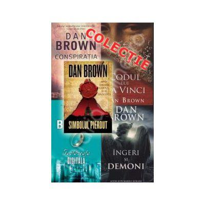 Colectia Dan Brown (Simbolul pierdut, Codul lui Da Vinci, Ingeri si Demoni, Conspiratia, Fortareata digitala)