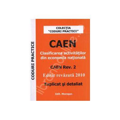 CAEN 2010. Clasificarea activitatilor din economia nationala (Explicat si detaliat)