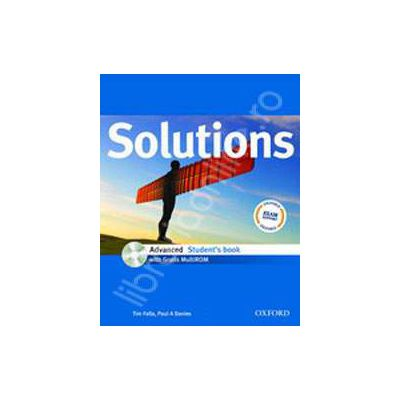 Solutions Advanced Students Book with MultiROM