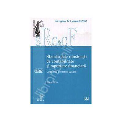 Standardele romanesti de contabilitate si raportare financiara (Legislatie contabila uzuala)