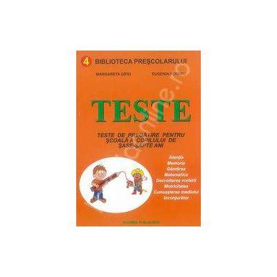 Teste pentru dezvoltarea intelectuala a copilului de 6-7 ani
