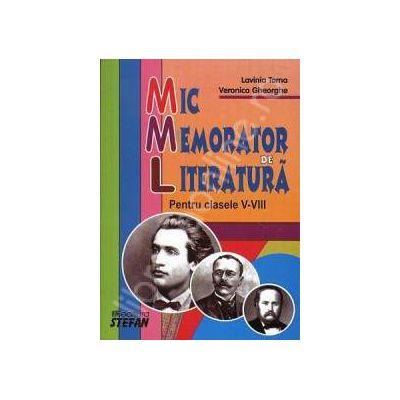 Mic memorator de literatura. Clasele V-VIII