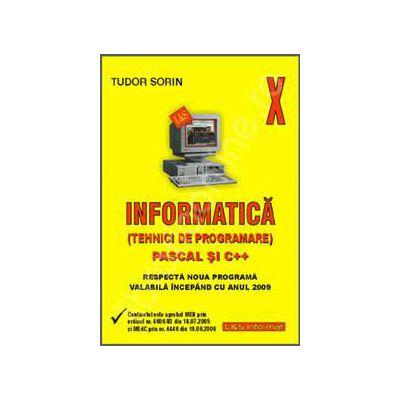 Manual de INFORMATICA pentru clasa a X-a (Tehnici de programare) - Pascal si C++