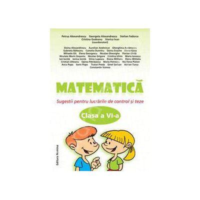 Matematica clasa a VI-a, Sugestii pentru lucrarile de control si teze