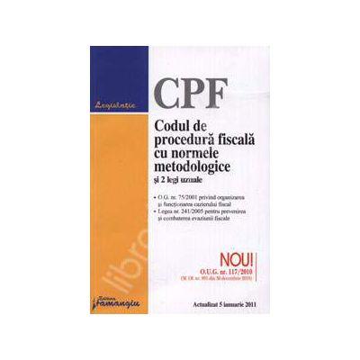 Codul de procedura fiscala cu normele metodologice si 2 legi uzuale - Actualizat 5 ianuarie 2011